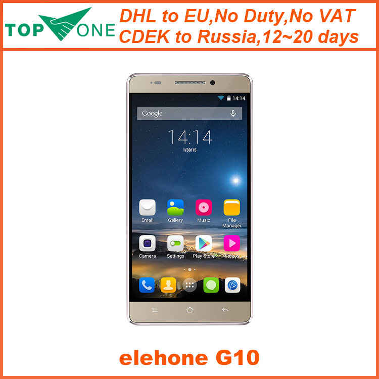 "Original Elephone G10 WCDMA 3G Mobile Phone MT6582 Quad Core 1.3GHz 5.5"" FHD 1GB RAM 8GB ROM Android 4.4 Lollipop 13.0MP(China (Mainland))"