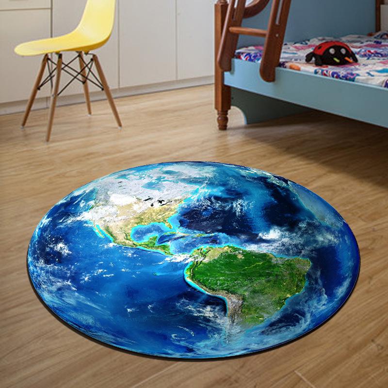 World Map Round Carpet Diameter 60/80/100/120/160CM Parlor Rugs Bathroom Mat Living Room Rugs Children Boy Bedroom Chair Carpet(China (Mainland))