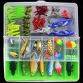 100pcs Lure Kit Set Minnow Popper Crankbait VIB Spinner Spoon Soft Worm Maggot Fishing Lure Hooks