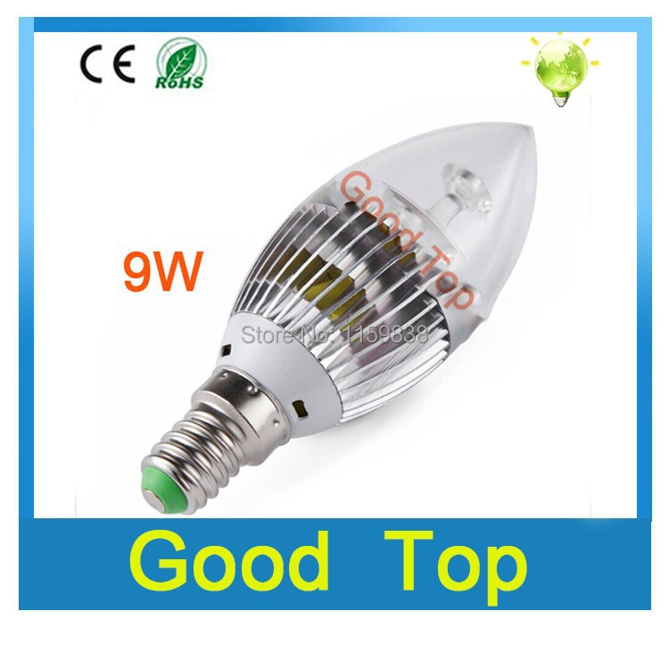 Factory direct led candle E14 2835 high power SMD led bulbs lamp 3W 5W 6W 9W lights AC 220V Cold white warm white led bulbs(China (Mainland))
