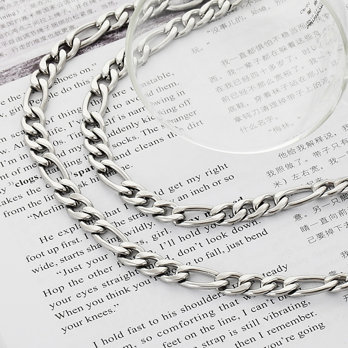 2013 Chunky Figaro Chains Necklace 316L Stainless Steel Jewelry For Men Quality Cool Jewelry NEVER FADE 9MM 22inch GN201(China (Mainland))