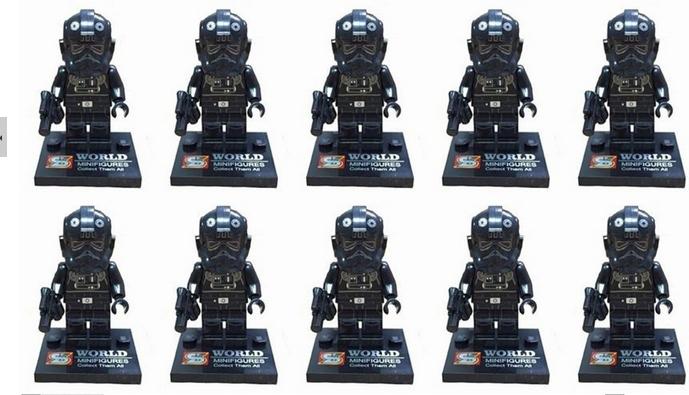 50pcs/lot Star Wars Microfighter TIE Interceptor Fighter Pilot mini action figure minifigure building brick toys(China (Mainland))