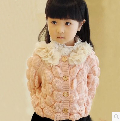 Small children new clothes autumn children's clothing baby girls knit cardigan sweater coat tide Y304