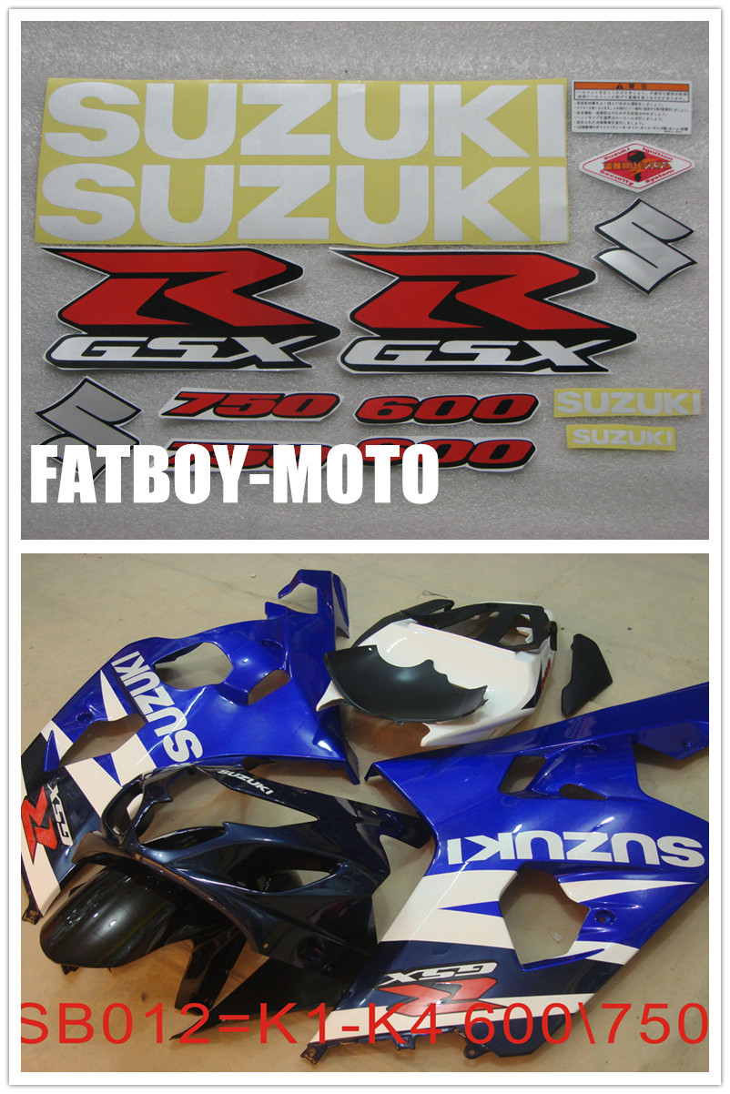 2001 2002 2003 2004 bike motorcycle Suzuki GSXR GSX R GSX-R 600 750 K1 K2 K3 K4 K5 decal sticker set