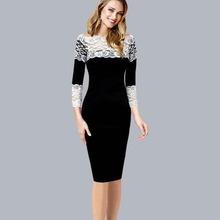XXL 2015 Summer Women Lace Pencil Dress Patchwork Slash neck Full Sleeve Knee-Length Sheath Dresses vestidos plus size(China (Mainland))