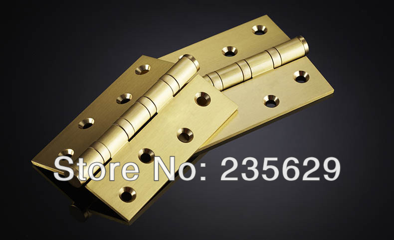 Free Shipping, 4 inches Ball bearing hinge, Pure Copper Hinges for timber Door, Easy Installation,Low noise Hinges, 4'' hinges(China (Mainland))