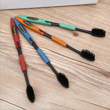 Oral Care 4PCS Bamboo Charcoal Nano Toothbrush Double Ultra Soft Toothbrush(China (Mainland))
