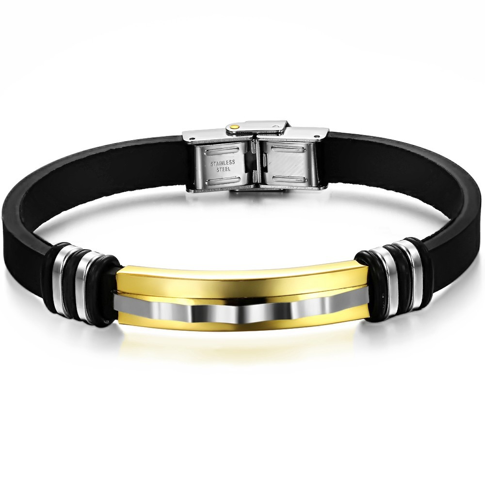 silicone bracelet for stainless steel charm