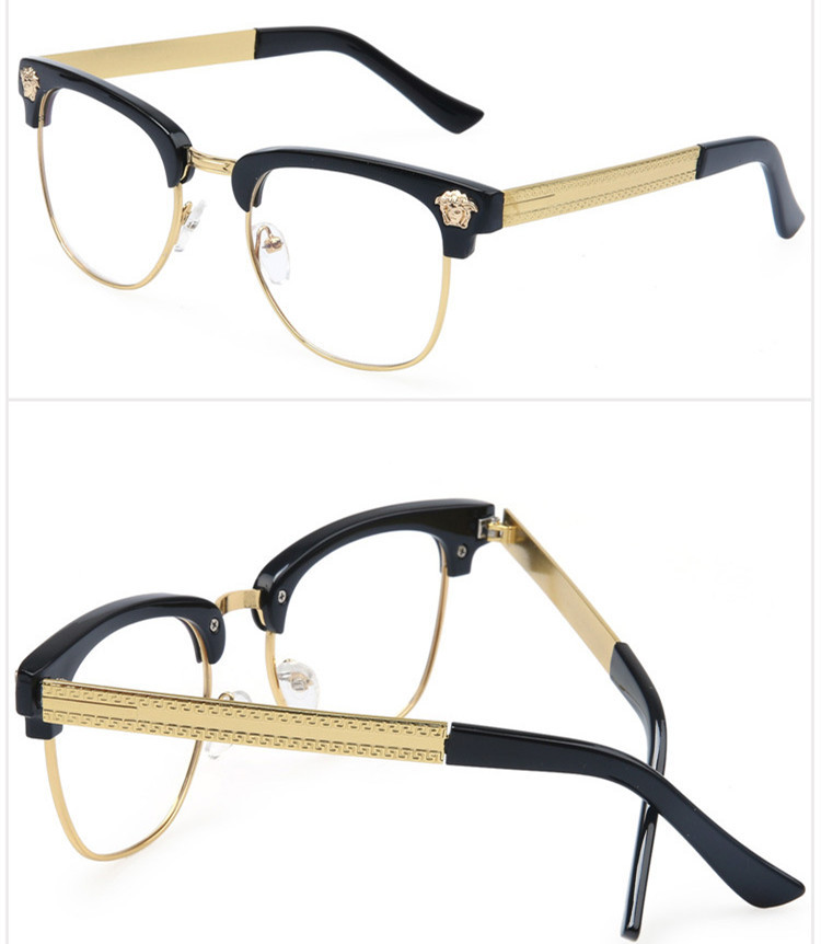 Half Frame Glasses Men New 2015 Brand Eyeglasses Computer Women Optical Eye Glasses Myopic Frame Glasses