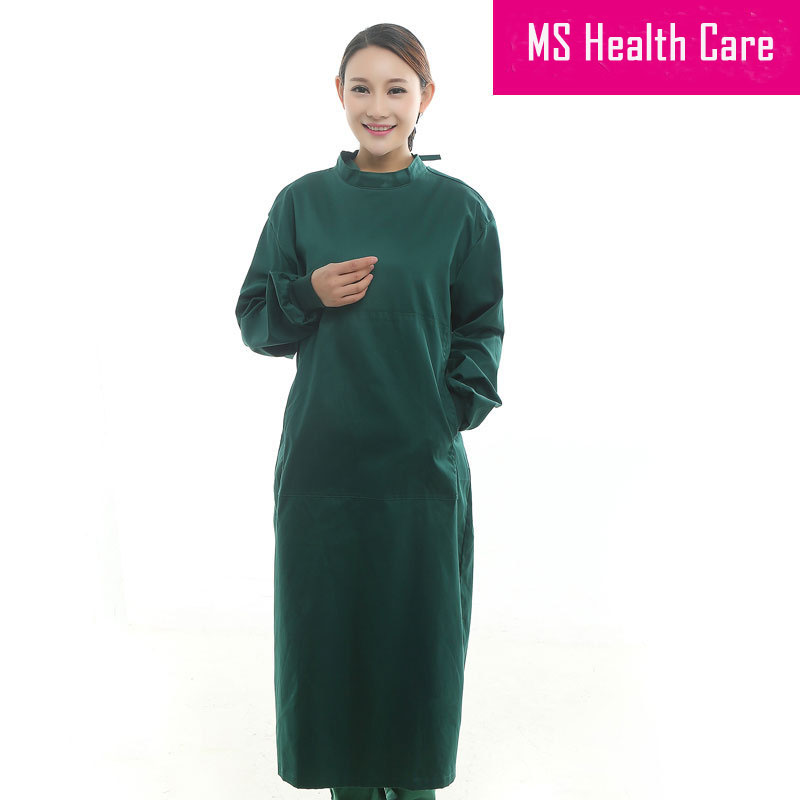 Cotton Medical Overalls Hospital Medical Scrub clothes Surgical Clothing Doctor's Scrub Tops Surgical Gowns Lab Coat(China (Mainland))