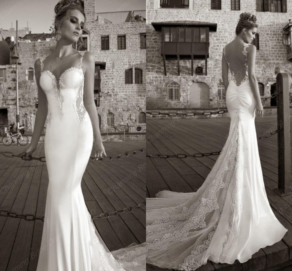 Aliexpress Buy Romantic Berta Wedding Dress Spaghetti Straps Sweetheart Backless Sexy Lace