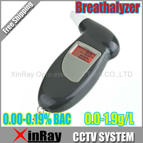 Free shipping 1pc/lot Key Chain Alcohol Tester, Digital Breathalyzer with red backlights (0.19% BAC Max) PFT-68S(China (Mainland))