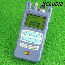KELUSHI FTTH All-IN-ONE Fiber Optical Power Meter -70~+10dbm 1mw 5km Cable Tester Red Laser Visual Fault Locator Testing Tool(China (Mainland))