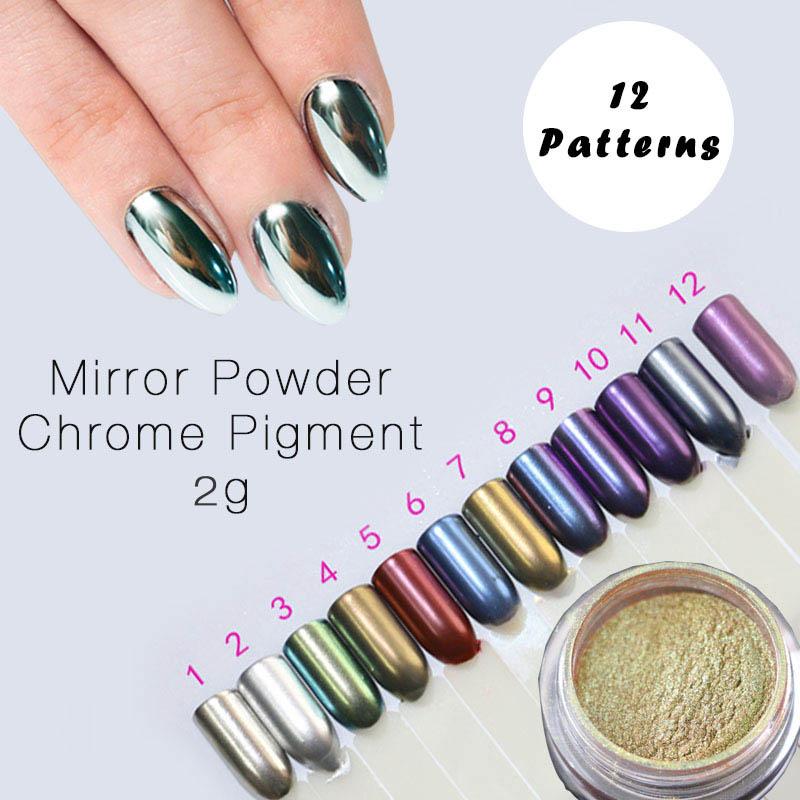 Unghie in gel oro promozione fai spesa di articoli in - Unghie argento specchio ...