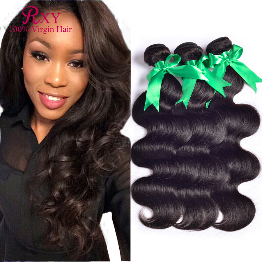 7A Hair Products Brazilian Virgin Body Wave 3bundles Human Unprocessed - Xuchang RXY Industrial & Trade CO.,ltd store