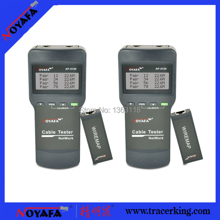 Free Shipping!! NOYAFA NF-8108NetWork Lan Cable Tester Wire length tester(China (Mainland))