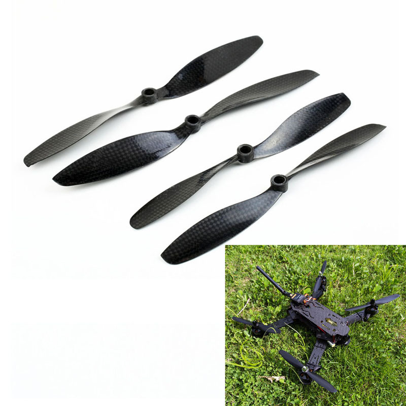 2 Pairs 8045 Carbon Fiber Propeller Prop CW CCW 8mm Shaft for DJI Phantom 1  NG4S