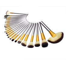 New Popular Fahion 24 Beige Makeup Brushes Set Cosmetic make up Concealer Foundation Eyeliner Brush + Bag