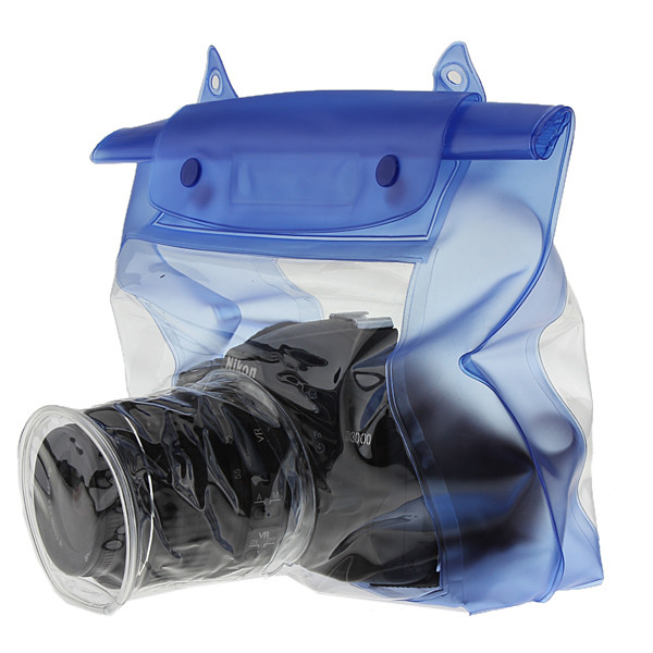 Blue Waterproof Digital Camera DSLR Case Underwater Diving Floating Pouch Housing Dry Bag For Canon For Sony For Nikon D7000(China (Mainland))