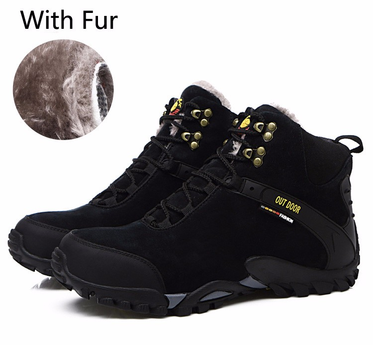 Wikileaks Men Boots Winter With Fur Inside Warm Snow Boots Men Outdoor Boot Men Work Shoes Man Footwear Male Rubber Ankle Boots