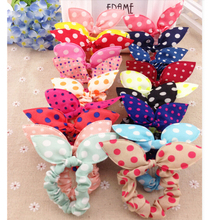 Buy 40 Pieces/lot Mix New Fashion Hair Band Polka Dot Hair Rope Accessories Bow Tie Hair Accessory Women Stripe Rabbit Ears for $4.27 in AliExpress store