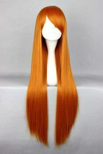 80cm Long EVA-Asuka Orange Cosplay Costume Wig(China (Mainland))