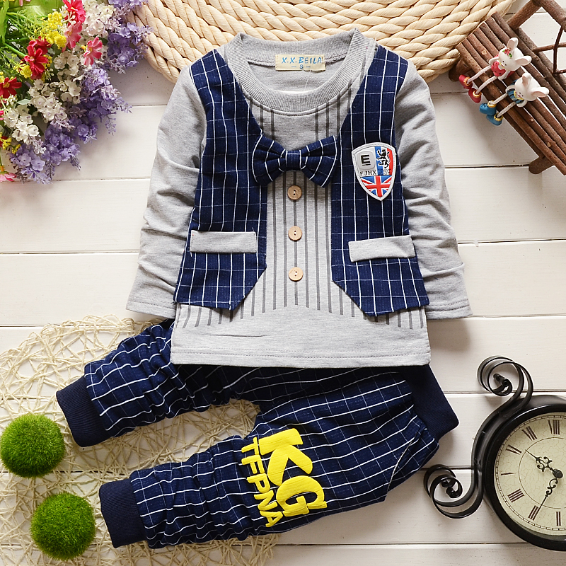 2015 New fashion boy Grey Waistcoat + Pants + Shirts clothes sets Suit(China (Mainland))