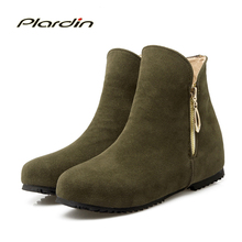 Plardin keep warm zip botines Mujeres Martin Botas de Invierno botas de nieve de Las Mujeres Zapatos Mujer Botas tobillo Botas de Mujer de las mujeres 34-52(China (Mainland))