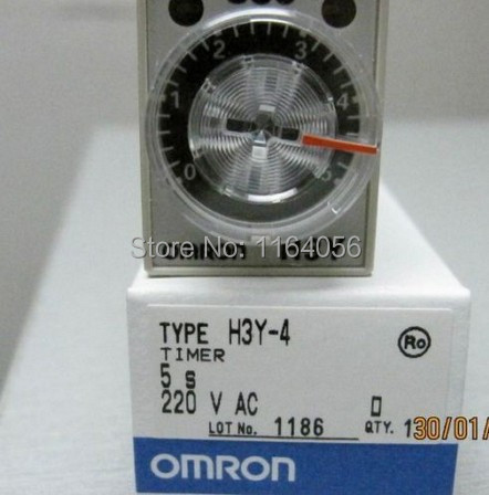 H3Y-4 AC220V 5A 5Sec 5S Omron Timer Relay 4PDT 14 PIN(China (Mainland))