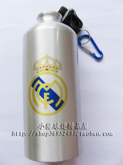 The Spanish Football League Real Madrid fans articles outdoor sports bottle bottle, glass bottle(China (Mainland))