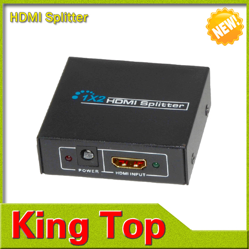 NEW HDMI SPlitter 1X2 split Full HD 3D 1.4 one HDMI input to 2 HDMI output with power cable For Audio HDTV 1080P Vedio DVD(China (Mainland))