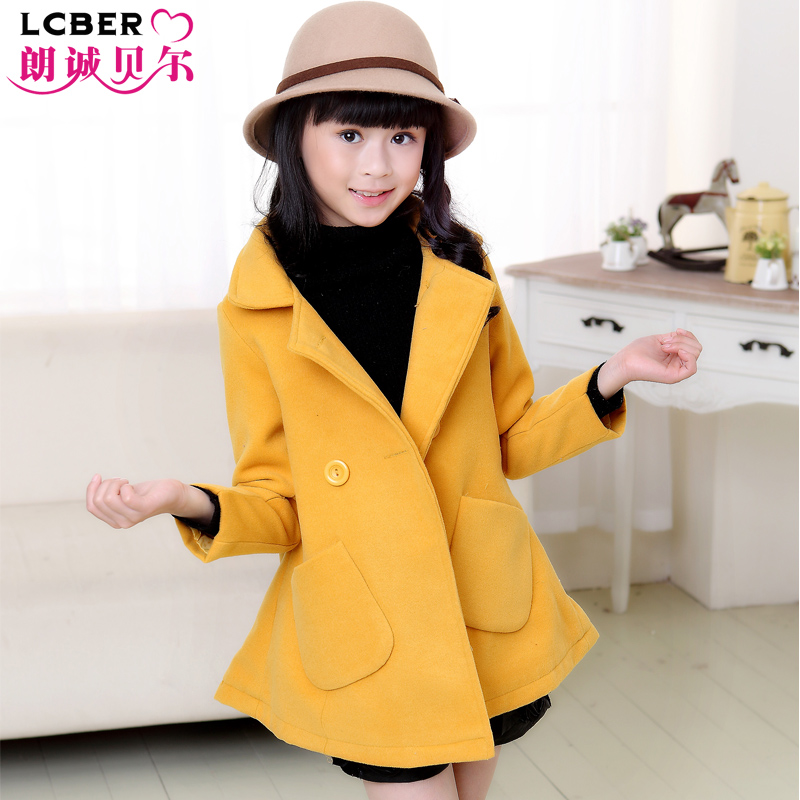 childrens clothing female child woolen outerwear 2015 autumn and winter child thickening woolen overcoat girls woolen coats<br><br>Aliexpress