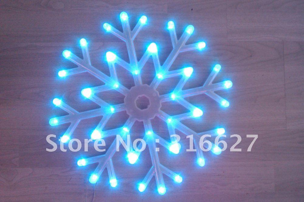 LED Christmas light big snow blue color 25CM(China (Mainland))