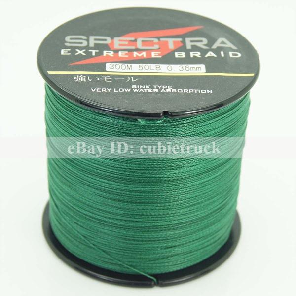 Spectra dyneema 300m 4 strands pe braided fishing line for 50 lb braided fishing line