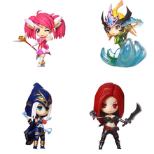 2016 New Famous LOL Game Figures Ashe Nami Lux  Katarina GAME Controller PVC Action Figure Brinquedos Model Toys Free ship(China (Mainland))