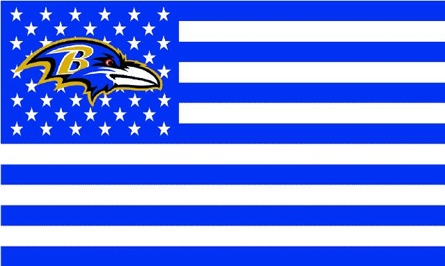 Baltimore Ravens white background with stars and stripes Flag 3FTx5FT Banner 100D Polyester flag 90x150cm(China (Mainland))
