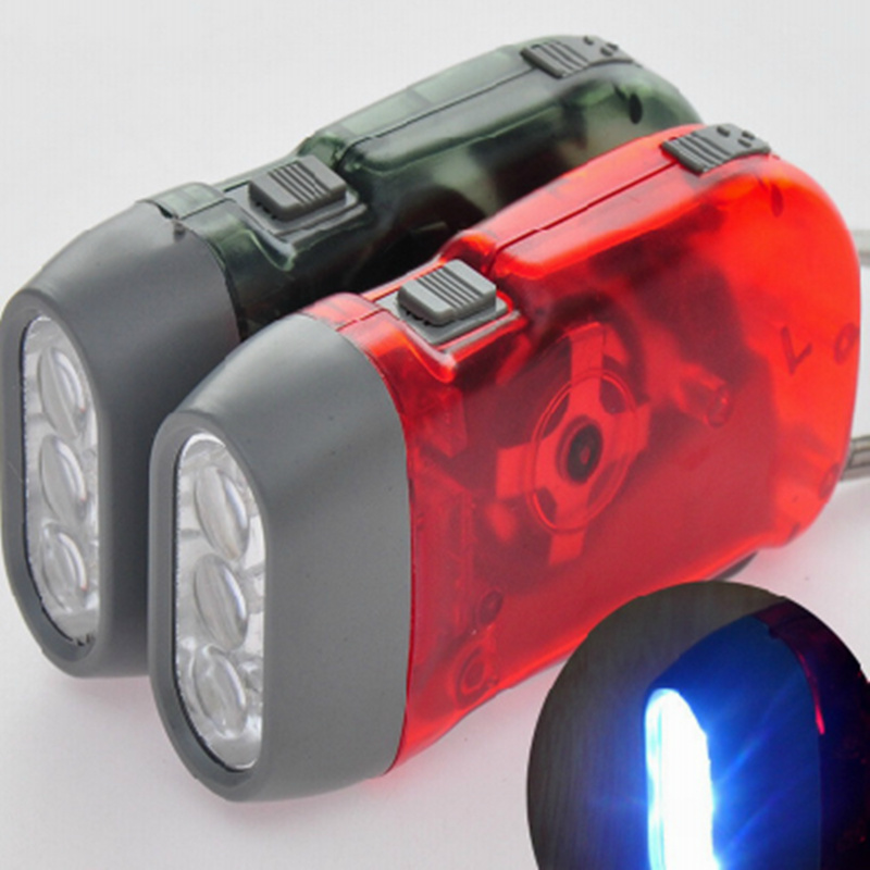 New Hand Press emergency Led Flashlight No battery Dynamo Flash Light for camping hiking travel outdoor sports(China (Mainland))