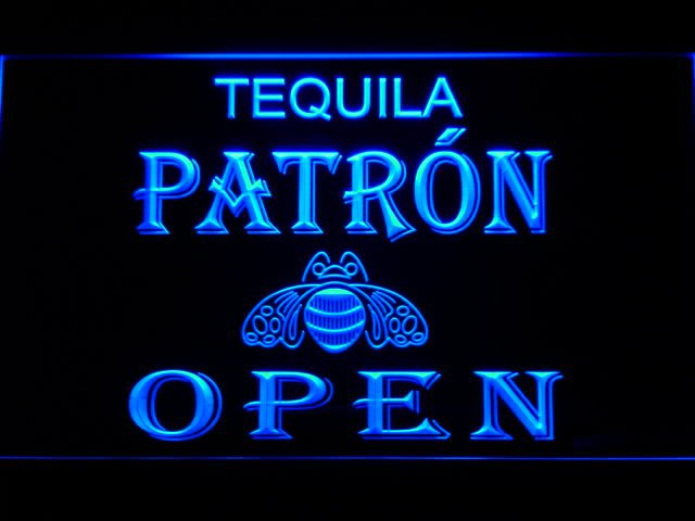 057-b Patron Tequila Beer OPEN Bar LED Neon Light Sign(China (Mainland))