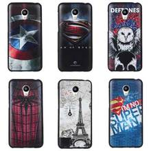 3D Stereo Relief Painting Meizu M2 Mini Case Cover Cartoon Silicon Back Covers For Meizu M2 Mini 5.0 inch Cases Protective Shell