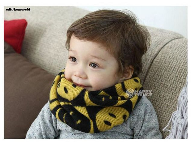 Free Shipping 1pcs/lot 2013 Baby Fashion Smile Head Scarves Children Scarf Boys and Girls Acrylic Yarn Christmas gGft