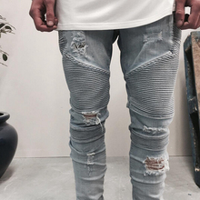 Hot Sale New 2016 Mens Hots Jeans Skinny Summer Denim Biker Jeans Designer for Male Fashion Personal Pants Slim Casual Trousers