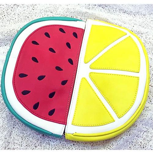 Индивидуальный дизайн , арбуз лимон полиуретан кожа сцепление вечернее сумки свободного покроя цепь наплечная сумка леди портмоне бумажник