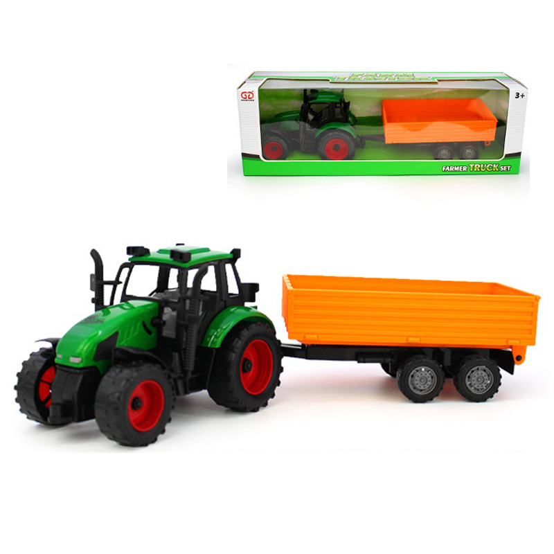 Big Farm Tractors Trailers Models Toy High Simulation ABS Farmer Model Engineering Car Truck Vehicle Educational Toys Kids Gift(China (Mainland))