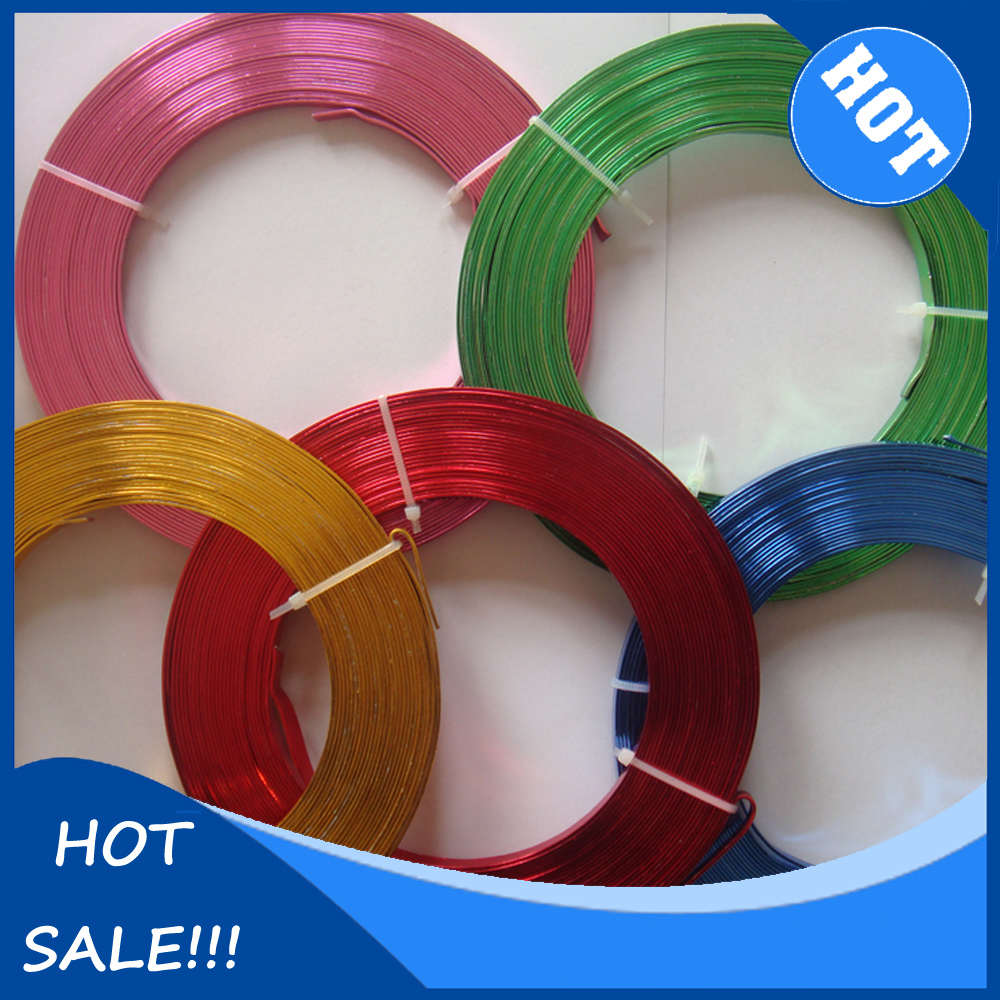 2pcs/lot 5mm*1mm Flat Aluminum Wire DIY Crafts Materials 5m/roll Handmade Craft For Jewellery Beading Making(China (Mainland))