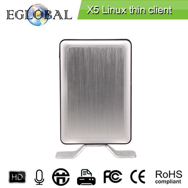 high embedded net computer pc Quad Core Zero Thin Client X5 1G RAm 8G Flash can be wall-mounted with magic metal brackets(China (Mainland))
