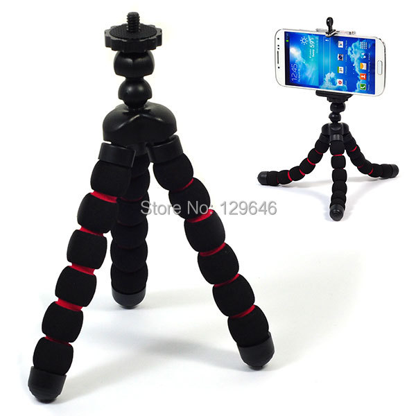 Small for Phones/Digital Cameras Flexible Octopus Style Sponge Tripod free shipping()