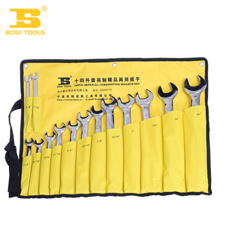2016 Combination wrench BS392114 of Persia and Imperial combination spanner set of 14 open wrench open end wrenches BOSI Tools d