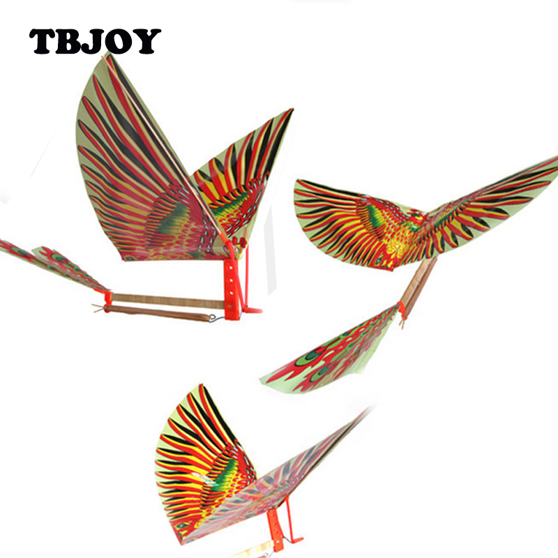 1 Pc Rubber Band Power Baby Adults Handmade DIY Bionic Air Plane Ornithopter Birds Models Kite Puzzles Education Kids Toys Gifts(China (Mainland))
