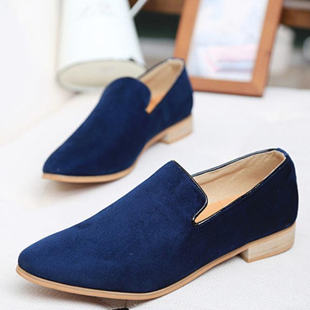 Новинка бренд британских мужчин свободного покроя туфли-loafer мужские для вождения ...