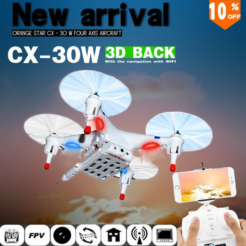 Cheerson CX 30w CX 30s 4CH 2.4GHz 4-Axis Gyro FPV RC Quadcopter Helicopter Camera for iPhone Android Wifi Real Time Video Drones(China (Mainland))